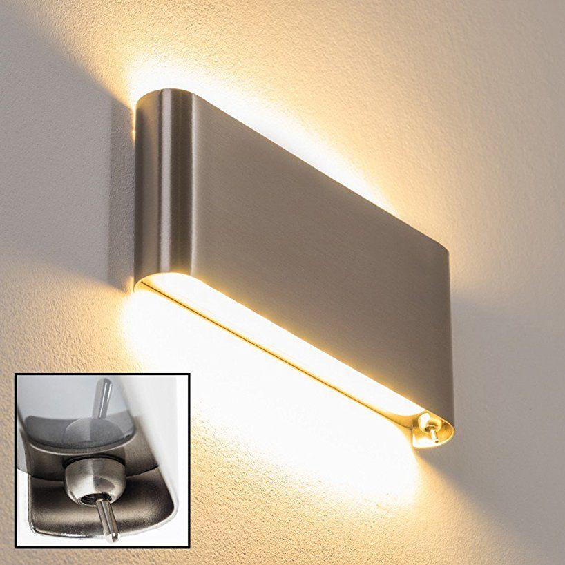 Hofstein H165677 Galindo Stahl Geburstet Wandlampe 12 Watt 1000