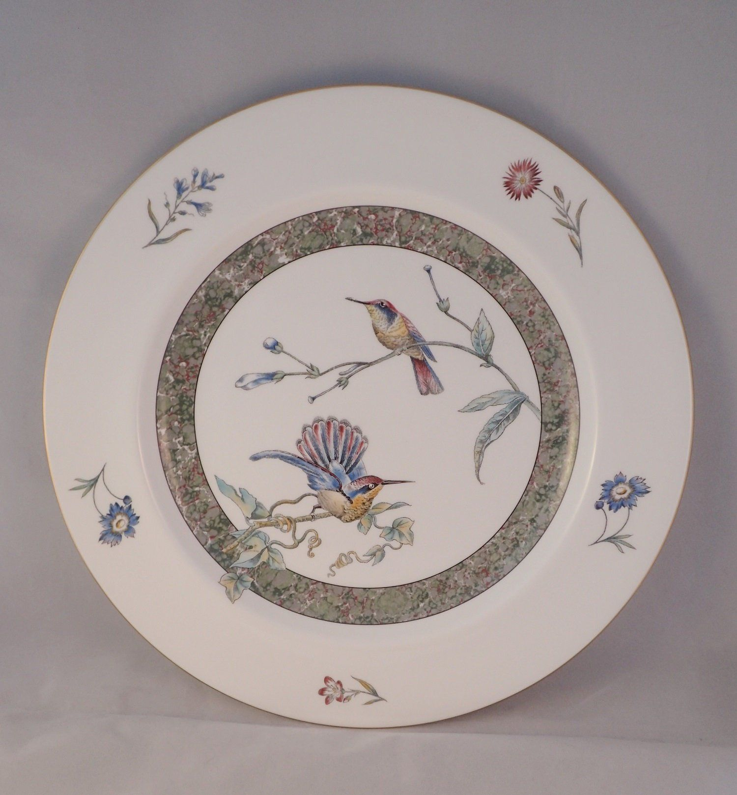 """Wedgwood """"Humming Birds"""" Charger Plate, Round Platter"""
