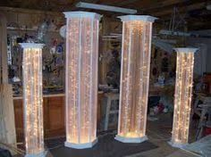 Diy columns wedding wedding tips and inspiration image result for how to make diy lighted wedding columns 60th solutioingenieria Image collections