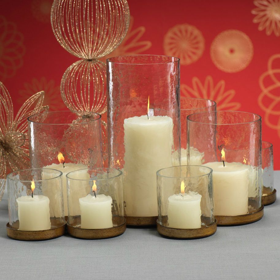 Multiple connected pillar holder in candle pinterest