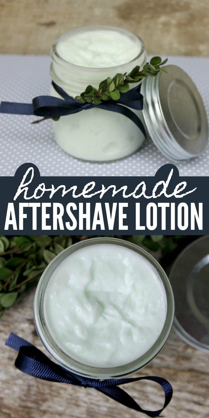 Homemade Aftershave Lotion - Soothing for Sensitive Skin #homemadefacelotion