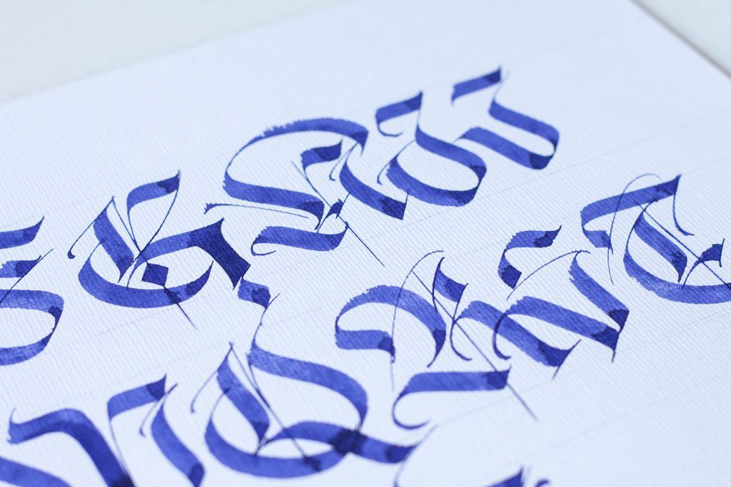 Calligraphy alphabet a z with pen how to brush pen