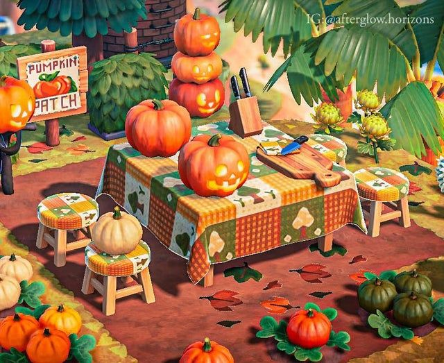My Pumpkin Carving Table Animalcrossing In 2020 Pumpkin Carving Animal Crossing Carving