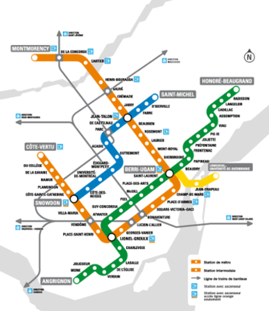 Montreal Subway Map Scale.Montreal Metro Subway Line Map 2017 Quebec Canada Love My