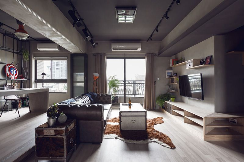 Complex Bachelor S Apartment In Taiwan With An Industrial Personality House Decor Idea