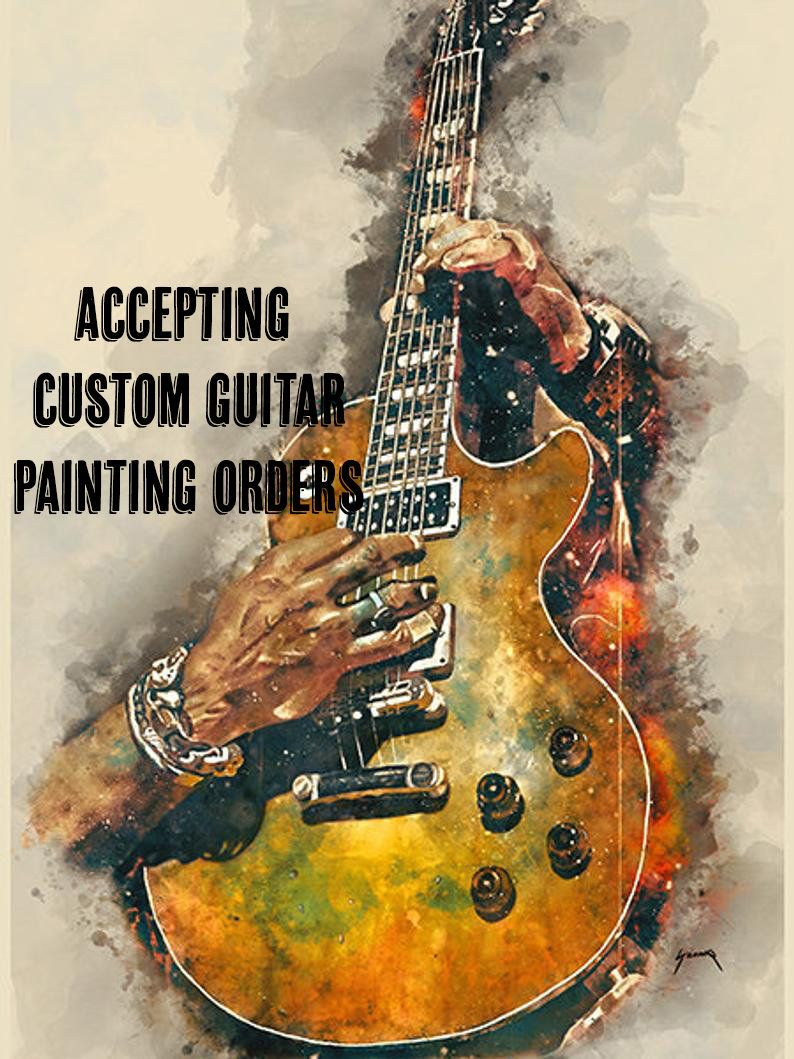 Painting Portrait Pop Star Musician Keith Richards 12X16 Inch Framed Art Print