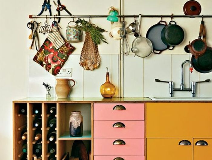 1001 Idees Deco Pour Illuminer L Interieur Avec La Couleur Ocre Mobilier De Salon Meuble Cuisine Deco Recup