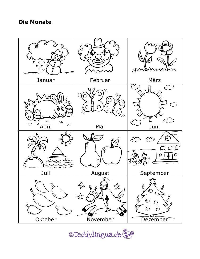 Die Monate Biene Die Monate Jahreszeiten Kindergarten Und