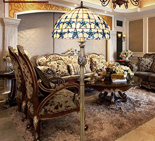 Continental Schlafzimmer Lilac 16-Zoll-Shells Stehlampe Tiffany