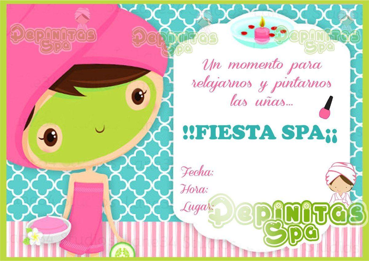 Invitaciones De Spa De Niñas Buscar Con Google