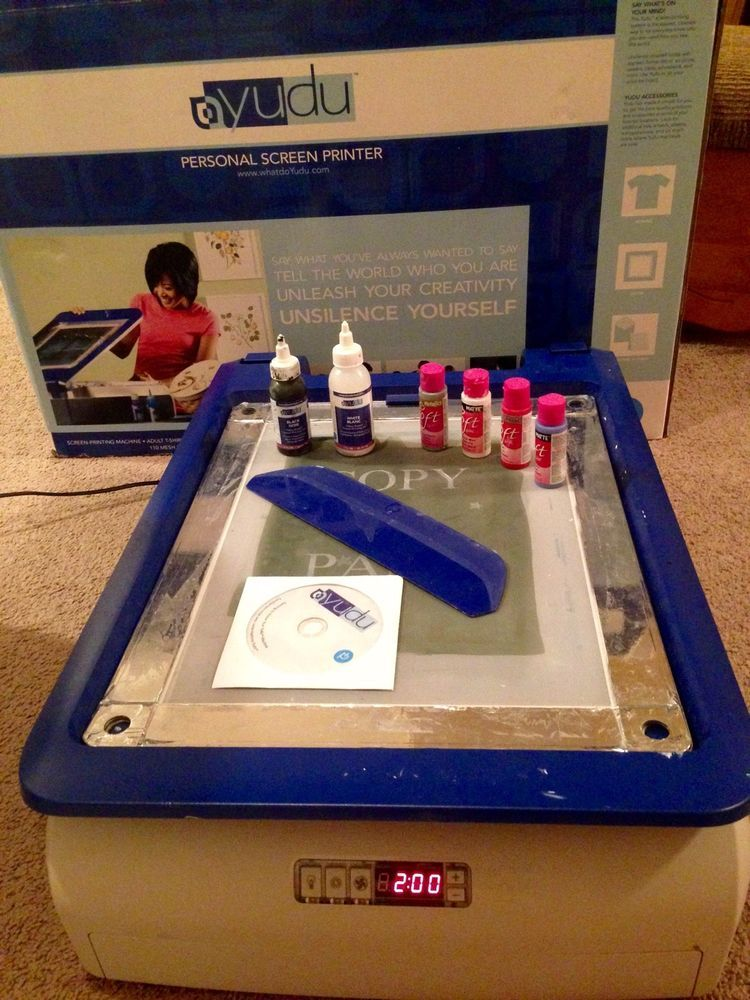 yudu home screen printing machine with accessories |  | crafty ...