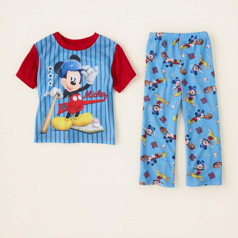 Baby Boy Sleep Underwear Mickey Mouse Pj Set Children S