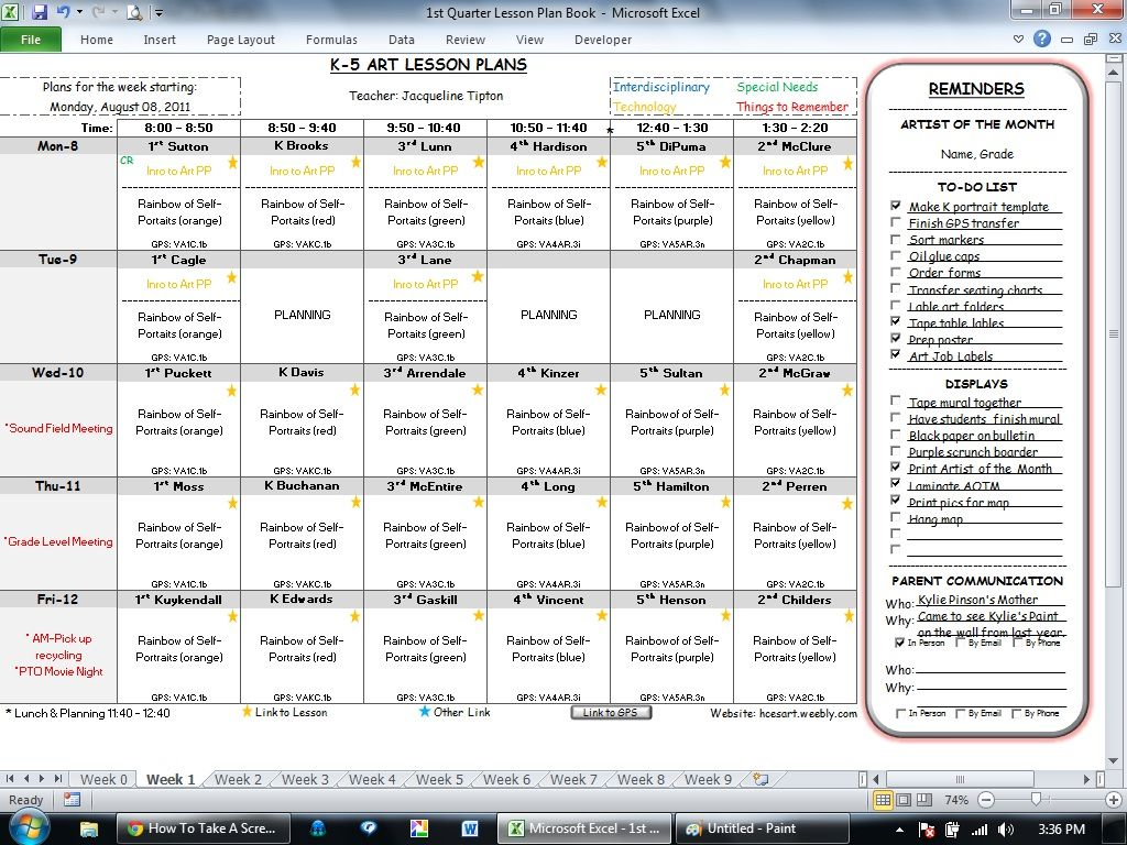 Lesson Planning Software Lesson Plans Art Teachers And