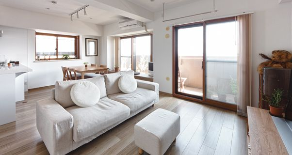 大京エル・デザイン 施工事例 すべての居室に自然光を通すナチュラルな室内