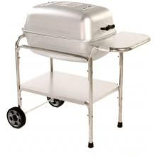 Portable Kitchen Cast Aluminum Charcoal Grill Smoker