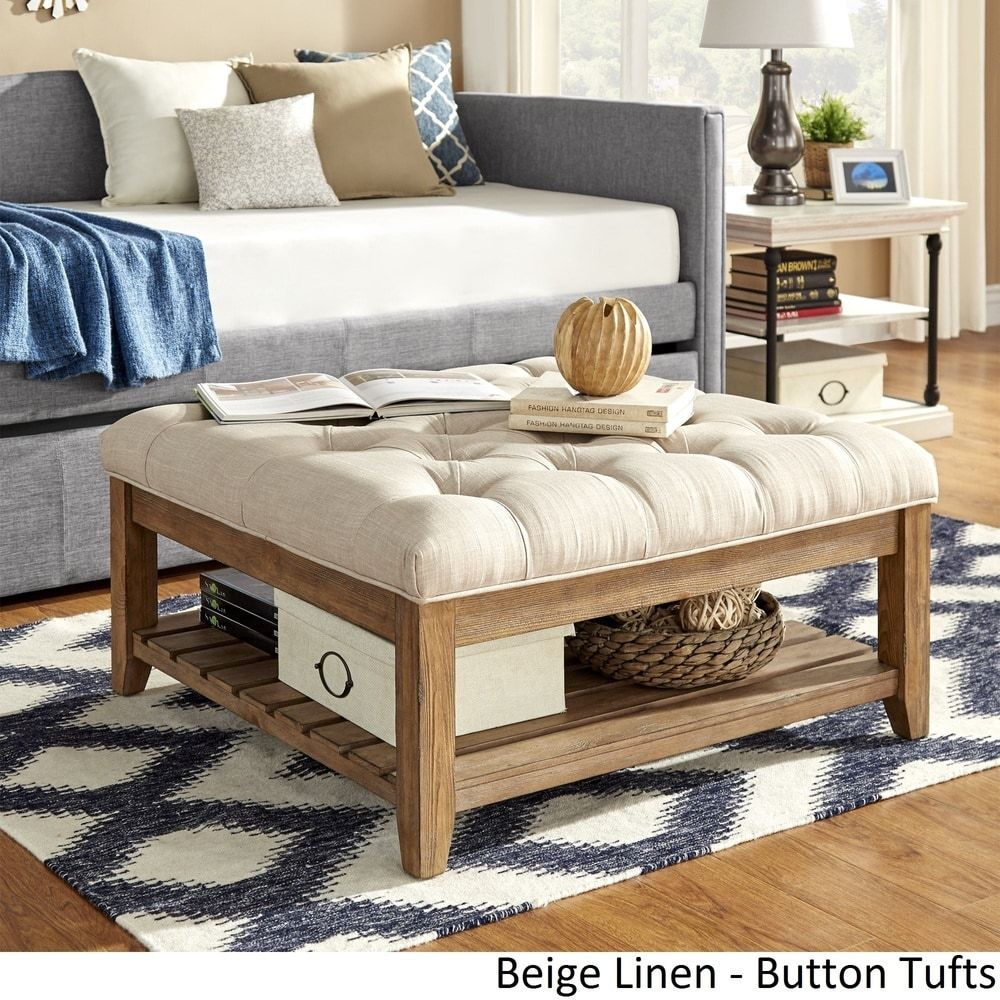 Lennon Pine Planked Storage Ottoman Coffee Table by iNSPIRE Q Artisan |  Overstock.com Shopping