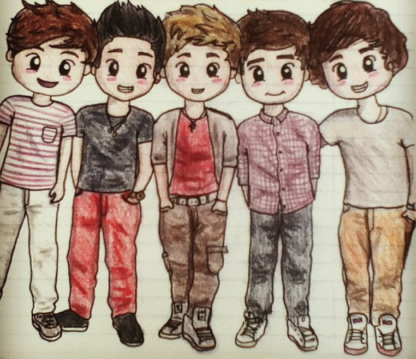 Very Cool Drawing Of The Boys I Wish I Was This Talented