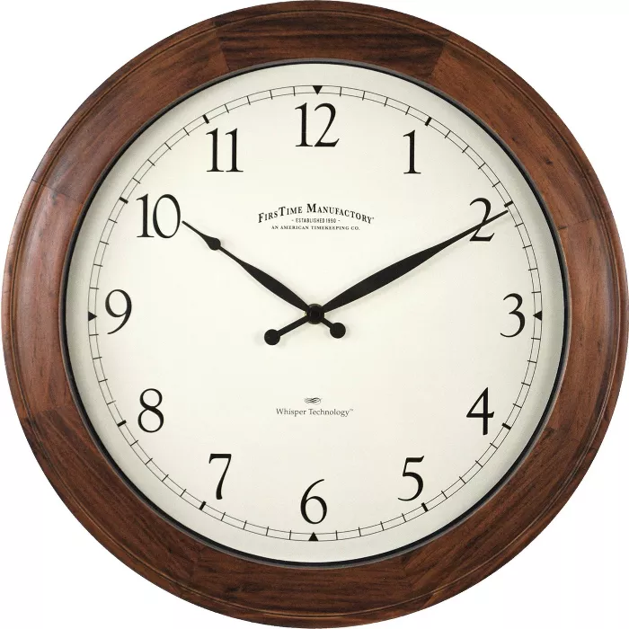 16 Walnut Garrison Wall Clock Walnut Wood Firstime Co In 2020 Wall Clock Round Wall Clocks Wood Wall Clock
