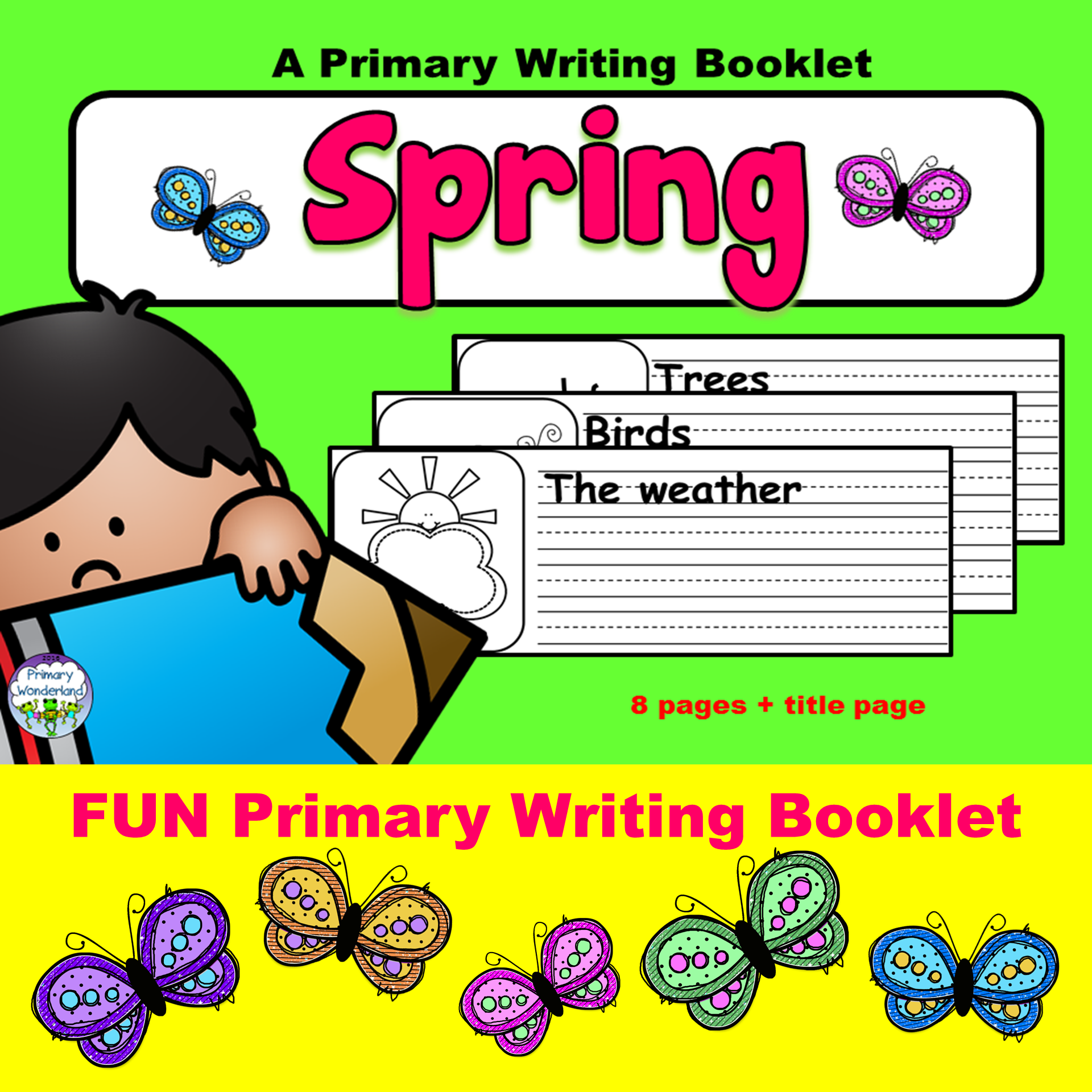 Primary writing booklet for Spring!  Simple sentence starters ensure a fun project for writing and reading!