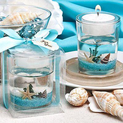 Details 12 Beach Theme Candle Favors Wedding Favor Bridal Shower