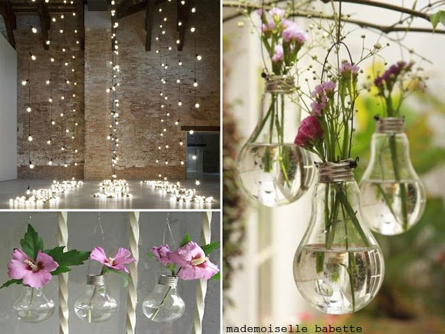 bombillas para flores