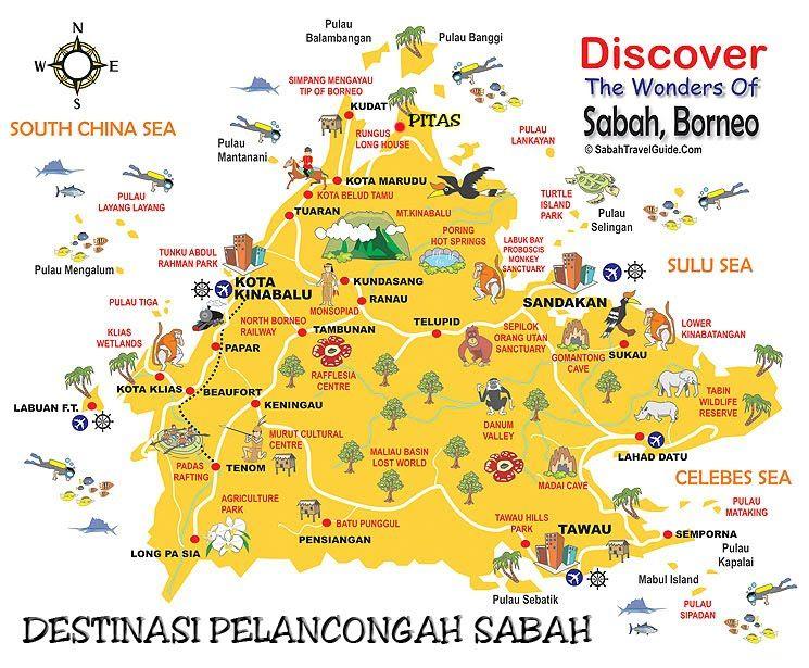 Destinasi Pelancongan Menarik Di Malaysia Sabah Tips Melancong Borneo Travel Malaysia Travel Borneo