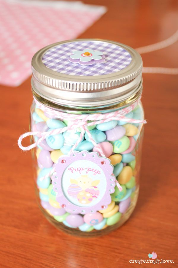 Mason jar easter treat gifts easter jar and craft mason jar easter treat gifts negle Image collections