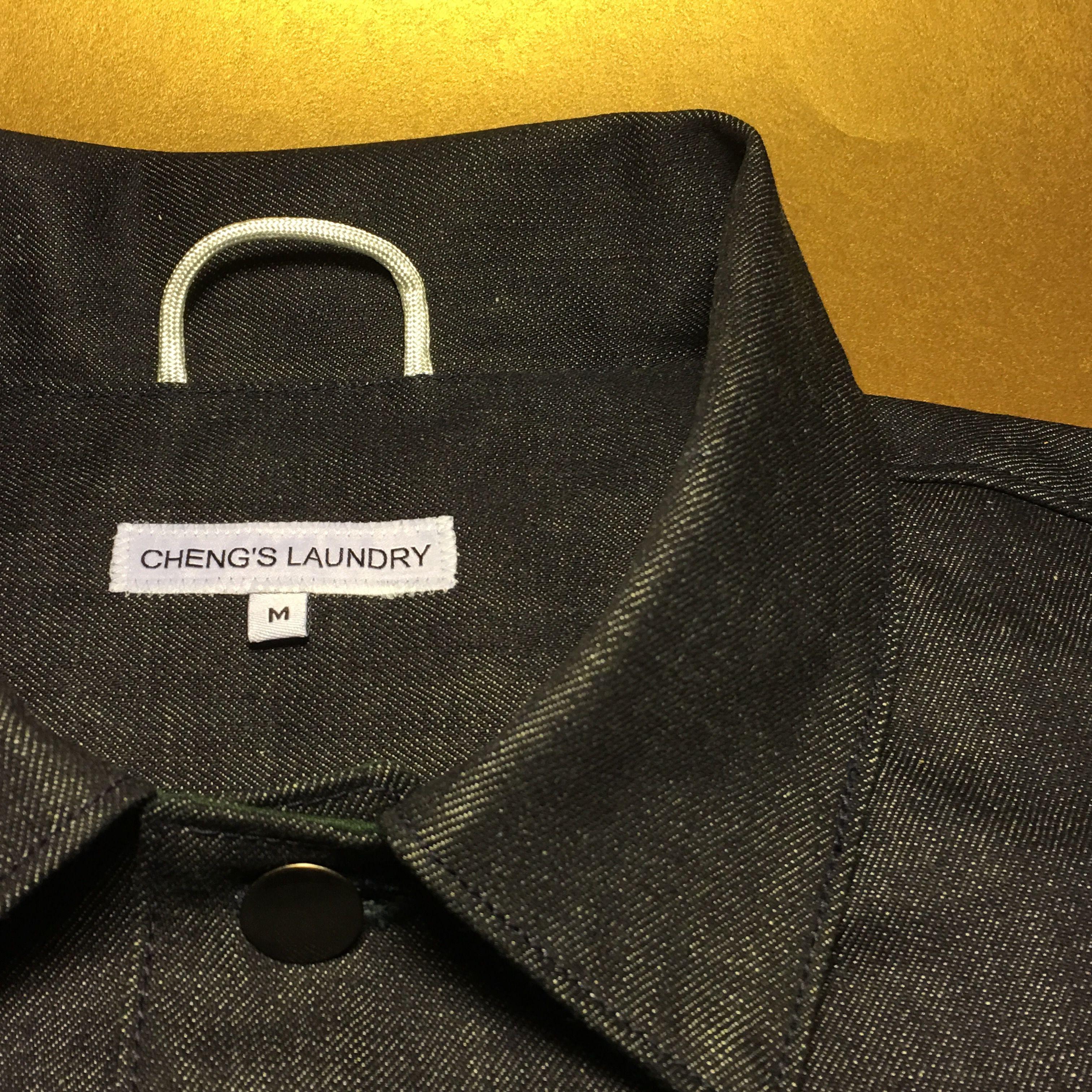 Label Placement details under the collar on this raw denim classic.  Operator #Jacket #RawDenim  Regular #Fit - #ConeMills #Indigo #vermont #madeinamerica #menswear #fashion #workwear #material #fabric