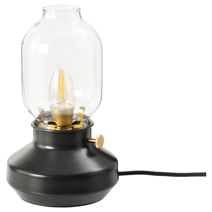 TÄRNABY Table lamp with LED bulb, anthracite IKEA in 2020