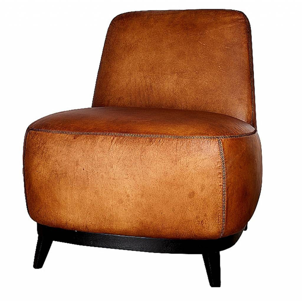 Leren Fauteuil Cognac Kleur.Bankstel Fauteuil Buffelleer Lifestyle Home Collection Bruin