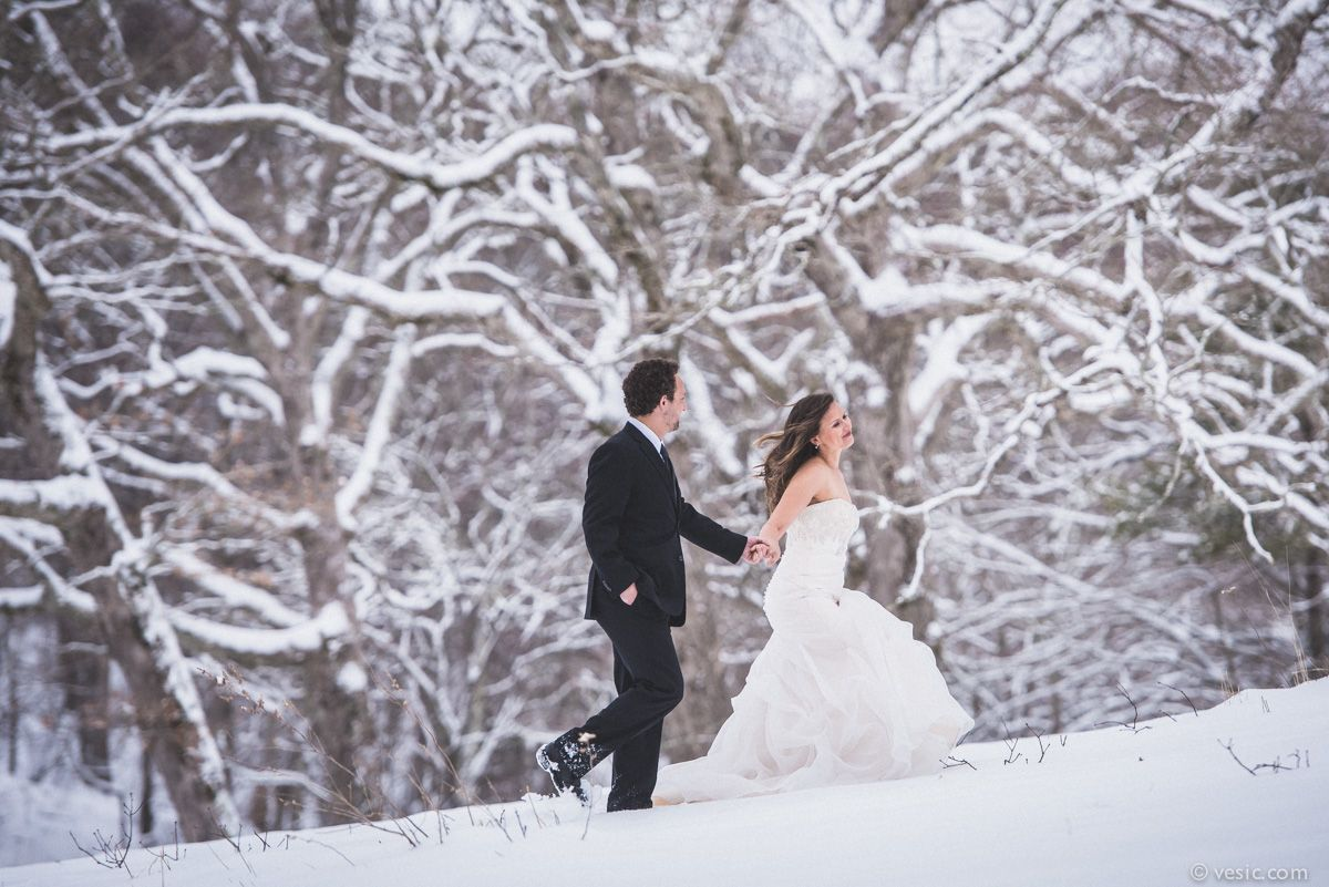 Winter Snow Wedding Photography Mountains Of Boone NC