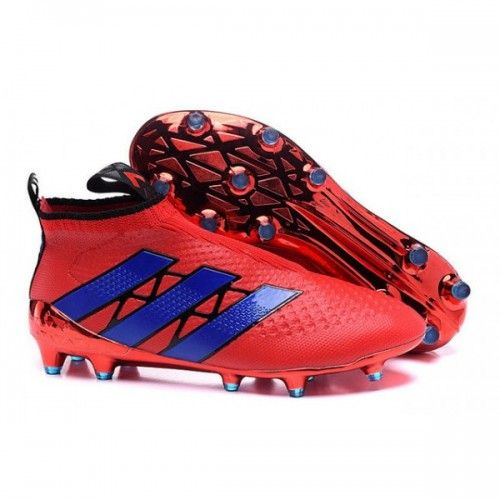 8d81ba0a0e11d Comprar 2016 Adidas Purecontrol FG-AG Botas De Futbol Rojo Azul Nuevas En  Línea Sala Baratas