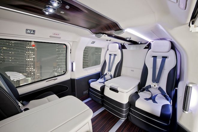 Mercedes Helicopter Interior
