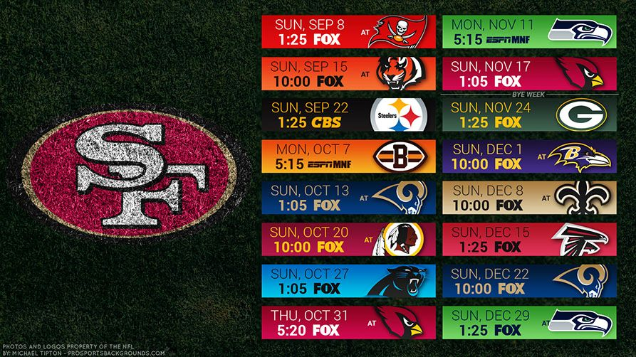 San Francisco 49ers 2019 Desktop Pc Field Nfl Schedule Wallpaper San Francisco 49ers Kansas City Chiefs 49ers