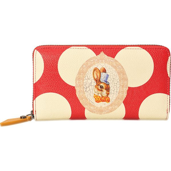 bdbbfe7d62e Vivienne Westwood Bunny Zip Around wallet (190 NZD) ❤ liked on Polyvore  featuring bags, wallets, printed, vivienne westwood wallet, zipper wallet,  ...