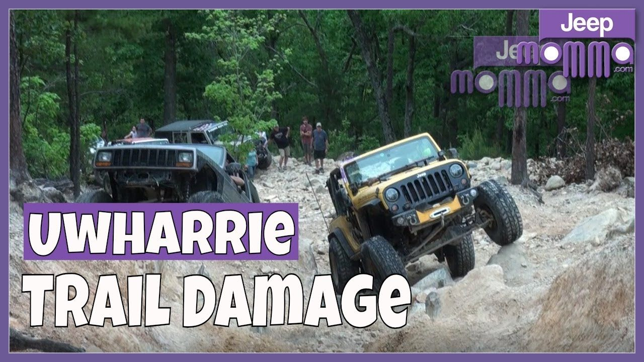 Jeep Trail Damage On The Daniel Trail Hill Climb At Uwharrie