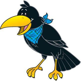 crow clip art black and white clipart panda free clipart images rh pinterest com crow clip art free crown clipart