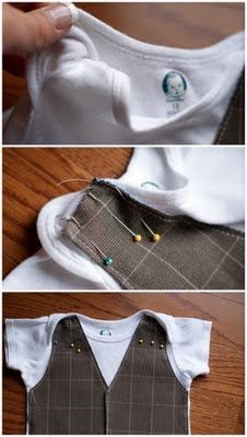 cca63bc2a B is for Boy!: Little Gentleman's Faux Vest Onesie | Crafts | Baby ...