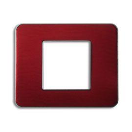 Plaque De Finition Double Colours Kalya Rouge Anodise Plaque Castorama Rouge