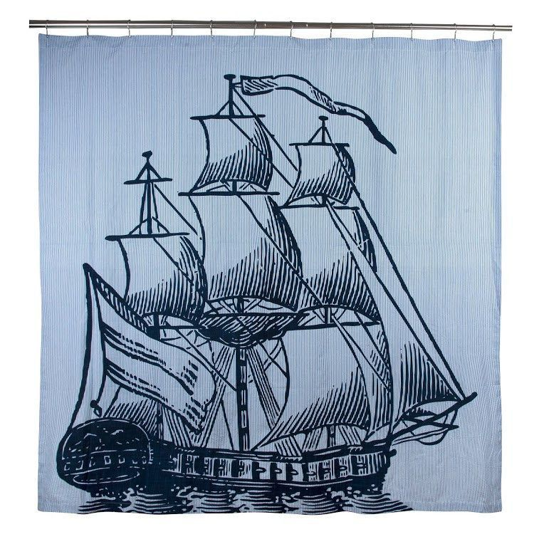 Galleon Shower Curtain Design By Thomas Paul Cotton Shower
