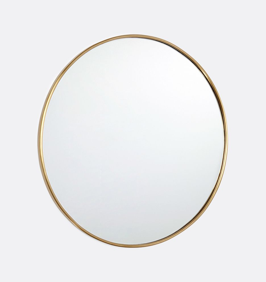 30 Oil Rubbed Bronze Round Metal Framed Mirror Rejuvenation Metal Frame Mirror Mirror Frames Mirror