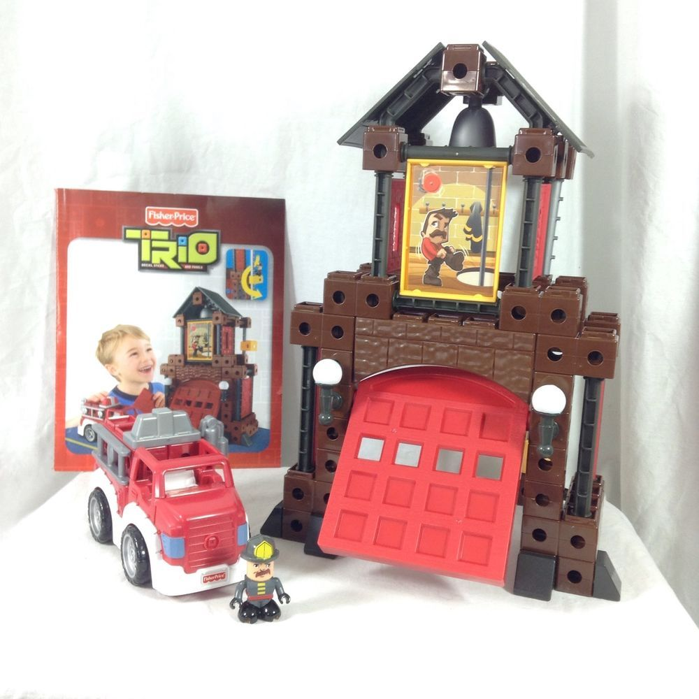 FisherPrice Trio Fire Station Building Set Complete P6833