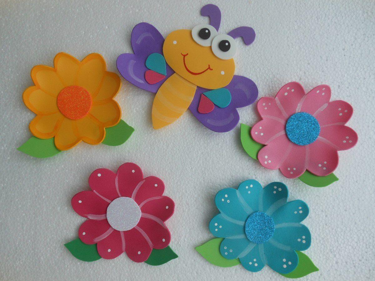 Flores en foami buscar con google manualidades - Manualidades con hueveras ...