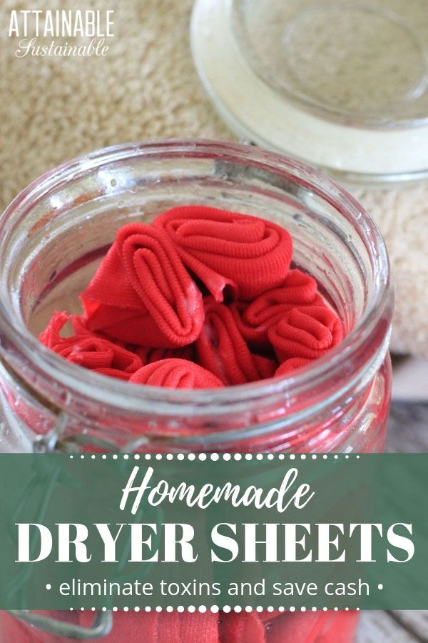 These DIY dryer sheets are easy to make, reduce your exposure to toxic chemicals, & save you money. They're a more eco-friendly laundry room option!