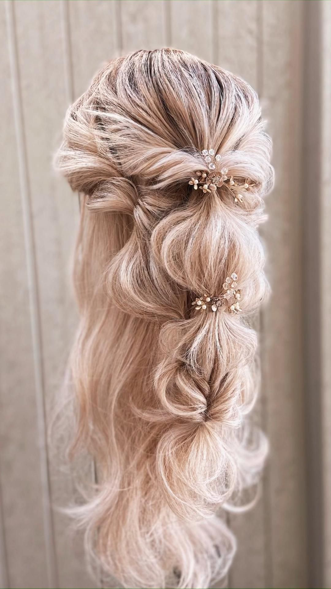 Hair By Kaelyn Christine | romantic bridal hairsty