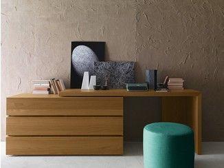 Borgonovo Mobili ~ Oak writing desk with drawers writing desk presotto industrie
