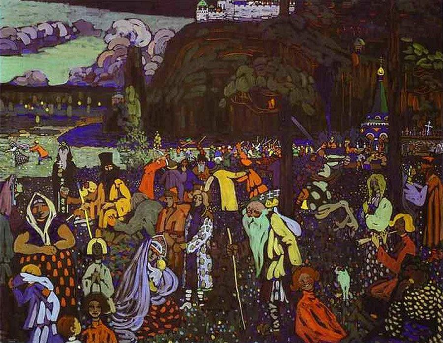 La Vita Colorata 1907 Tempera Su Tela Monaco Stadtische Galerie Im Lenbachhaus Vasilij Kandinskij Dipingere Idee Astratto Pittura Astratta
