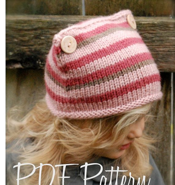 Knitting PATTERN-The Lyllie Hat (Toddler, Child, Adult sizes ...