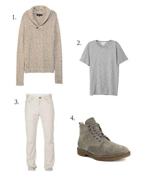 Men's casual outfit via Rag & Bone