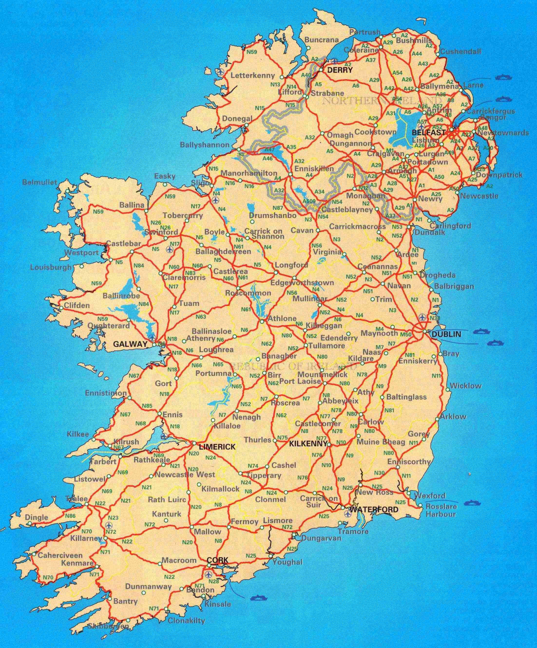 Small BIrishb Bmapb Ireland Pinterest Ireland - Cities map of ireland